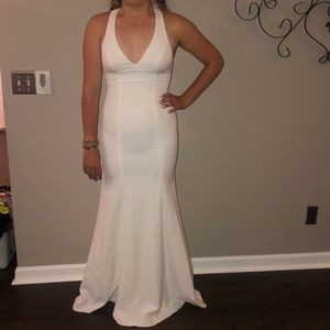 White Xscape formal gown 6